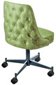 #3628 Diamond Tufted Club Chair With Casters