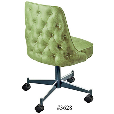 Diamond Tufted Upholstered Club Chair With Casters 3628