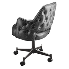 Upholstered Club Arm Chair Open Back 5534