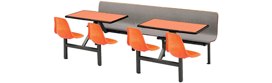 Cluster Seating with Bench Combination