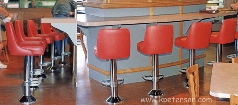 Coffee Shop Counter Stools Installation
