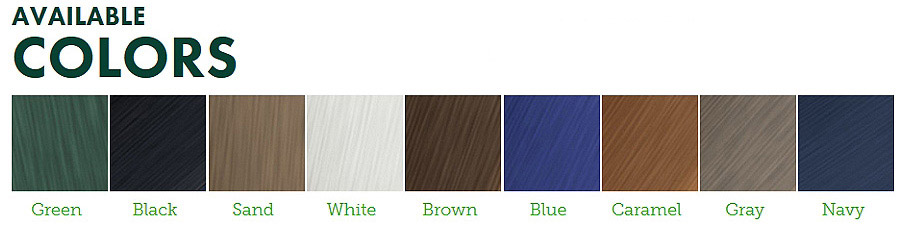 Indoor Outdoor Waste And Recycling Cabinet Color Selections