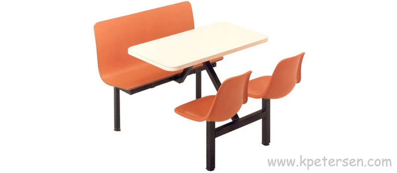 Combination Laminated Plastic Contour Seat with Fiberglass Shell Cluster Seats