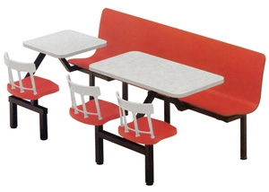 Laminated Plastic Restaurant Booth Bench Cluster Seating Combination