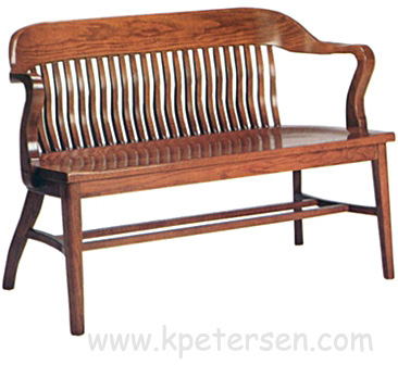 Oak Courthouse Bench 47 Inches