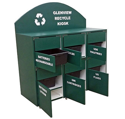 Custom Recycling Cabinet For Municipal Department Interior View