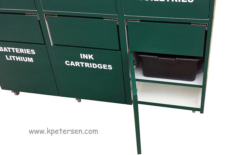 Custom Recycling Cabinet For Municipal Department Interior View Detail
