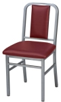 Deco Steel Restaurant Chair with Upholstered Seat and Upholstered Back