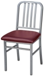 Deco Steel Restaurant Chair with Upholstered Seat