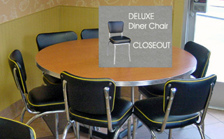 Closeout Restaurant Quality Diner Chairs
