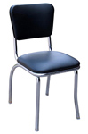 QUICKSHIP Standard Diner Chair Black Vinyl