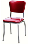 QUICKSHIP Standard Diner Chair Zodiac Burgundy Red Glitter Vinyl