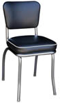 QUICKSHIP Deluxe Diner Chair Black Vinyl