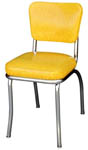 QUICKSHIP Deluxe Diner Chair Yellow Cracked Ice Vinyl