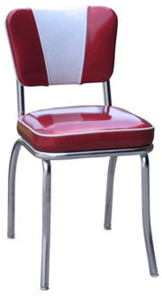QUICKSHIP V Back Deluxe Chrome Diner Chair Zodiac Glitter Burgundy Red and Glitter Silver Vinyl