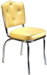 Diner Chair Cathedral Button Back Thick Seat