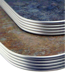 Matte Finish Grooved Aluminum Table Edge Table Top