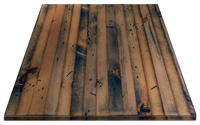 Distressed Pine, Narrow Plank Restaurant Table Square