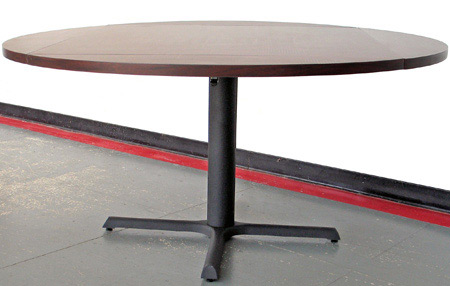 Drop Leaf Restaurant Table Opened To Round
