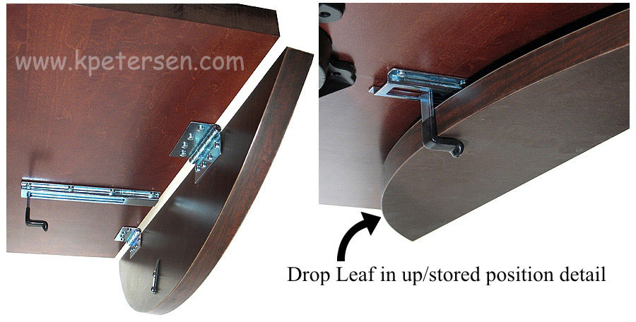 Dropleaf Table Hardware Leaf Positions