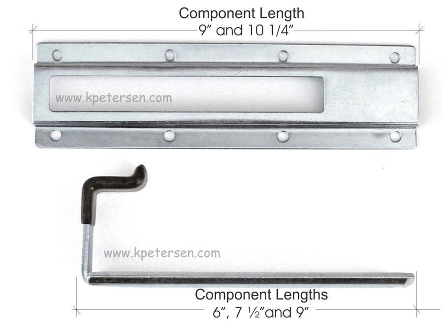 Dropleaf Table Hardware Detail Component Lengths