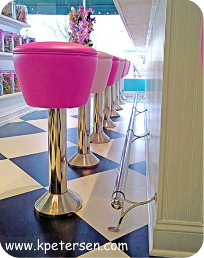 Drum Seat Bolt Down Counter Stool Installation Detail