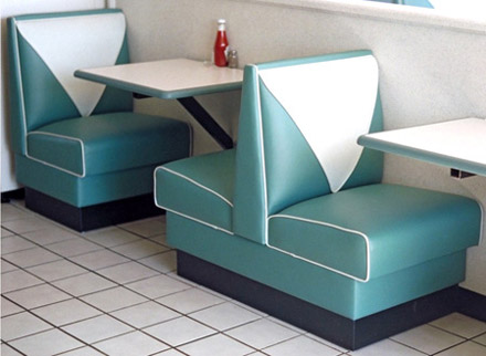 Duece Single And Double Upholstered Booths
