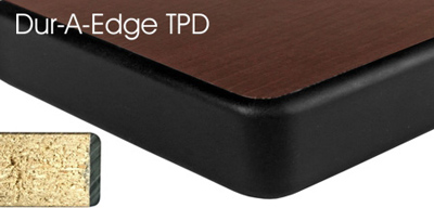 Laminated Plastic Table Top Square Profile Dur A Edge Detail