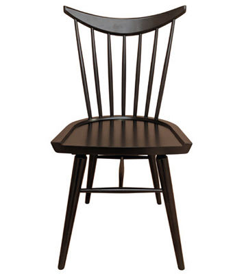 Early American, Windsor Shaker Style Wood Restaurant Chair Wood Seat Front View