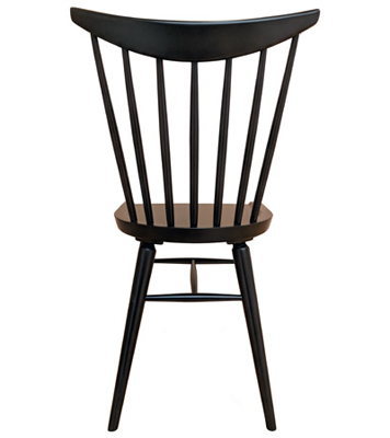Early American, Windsor Shaker Style Wood Restaurant Chair Wood Seat Rear View