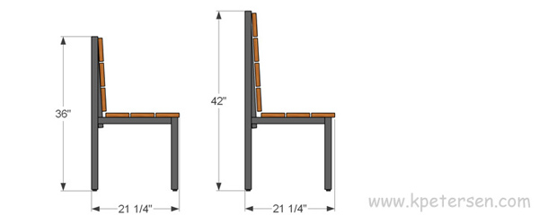 Urban Industrial Steel Frame With Heavy Wood Slat Seats Restaurant Booth Elevation Drawing