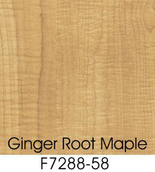 Ginger Root Maple Plastic Laminate Selection