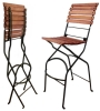 French Bistro Folding Bar Chair
