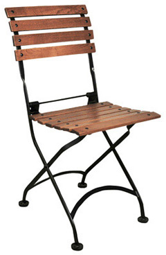 19th Century Reproduction French Bistro Cafe Chestnut Folding Side Chair