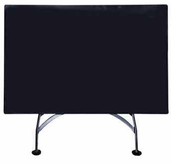 French Bistro 32 X 48 Inch Rectangular Steel Table Folded