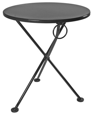 Round Steel Outdoor Tripod Table Black