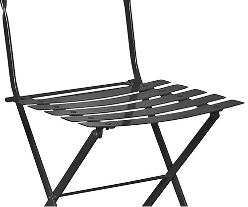 French Garden Steel Folding Chair Seat Detail