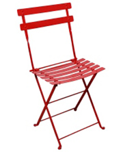 French Garden Steel Folding Chair Red