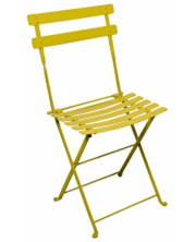 French Garden Steel Folding Chair Yellow