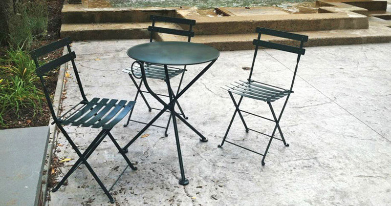 French Garden Steel Folding Chairs Installation