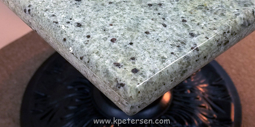 Granite Restaurant Table Corner Detail Kashmir