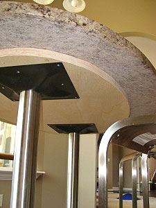 Stainless Steel Table Bases Underside View