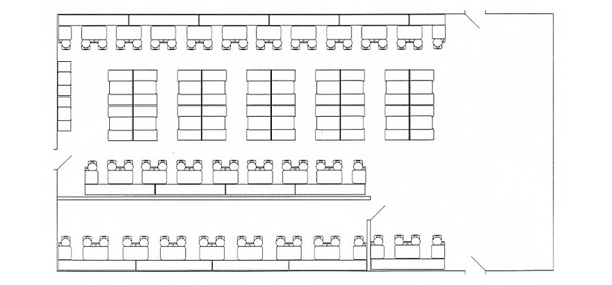 School Lunchroom Booth and Cafeteria Seating Layout