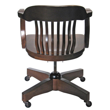Rear View Jury Swivel Armchair with Casters