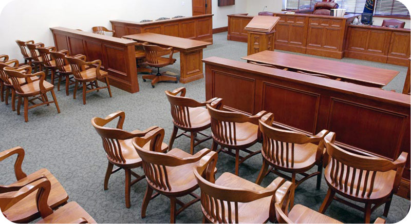 Free Standing Oak Jury Chairs