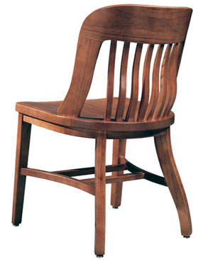 Oak Jury Side Chair Rear View