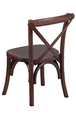 Juvenile Height Kid's Bentwood Stacking Chair Rear View