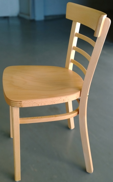 Ladderback bentwood restaurant chairs closeout side view