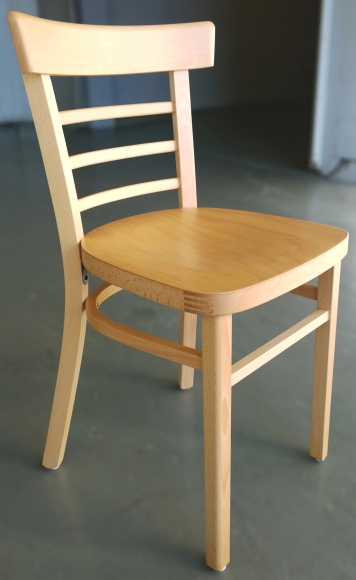 Ladderback bentwood restaurant chairs closeout front view
