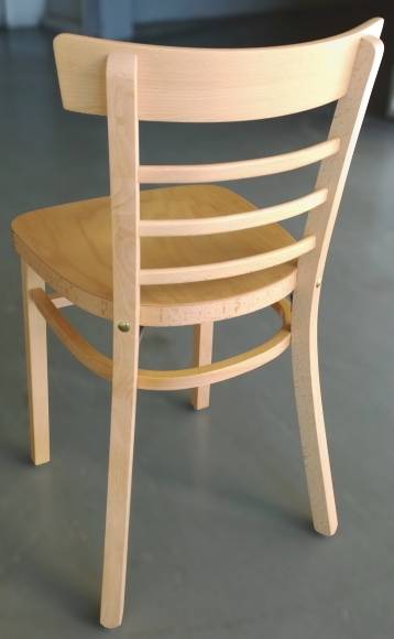 Ladderback bentwood restaurant chairs closeout rear view
